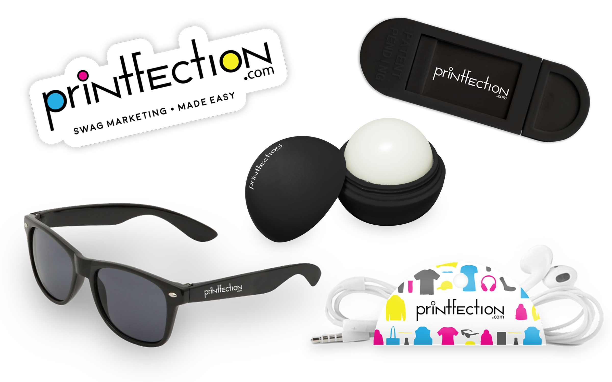 event swag under $5 - sunglasses, lip balm, stickers
