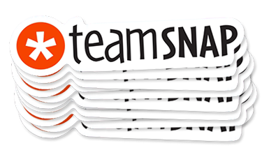TeamSnap swag stickers they used to increase signups