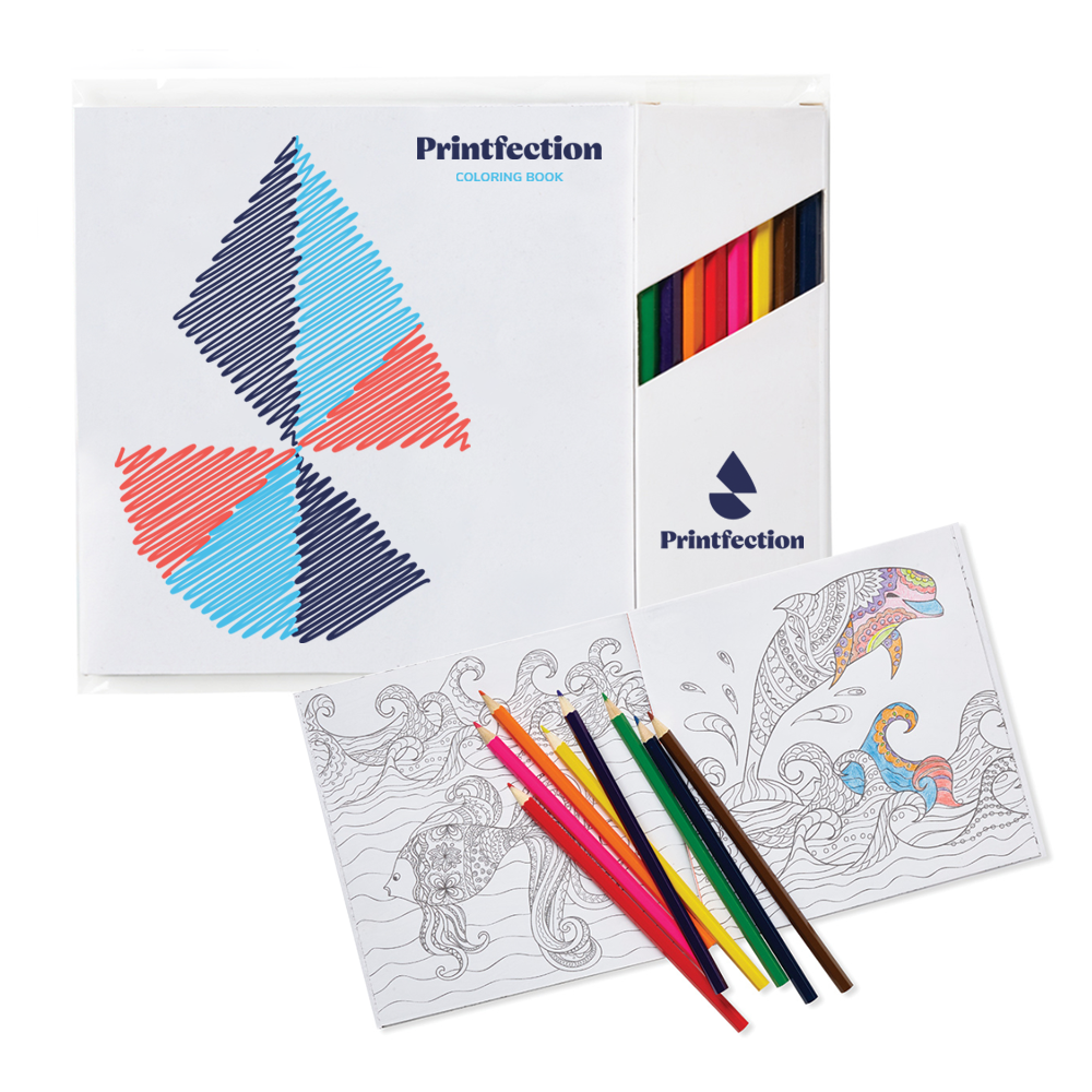 super fun branded adult coloring book